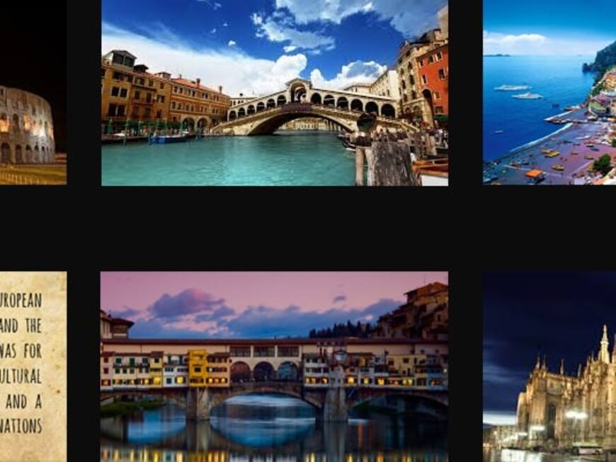 The most beautiful cities in Italy